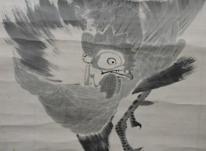 画像②:伊藤若冲筆《鶏図》(部分)個人蔵