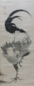 画像①:伊藤若冲筆《鶏図》 個人蔵