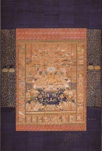 山形県指定文化財 刺繍当麻曼荼羅 浄徳寺蔵