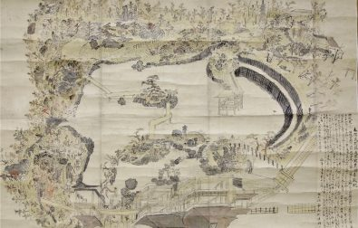 コラム更新「本間氏別荘庭園写景古図(酒田市立光丘文庫蔵)について」