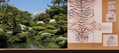国指定名勝庭園「鶴舞園」と本間美術館名品選